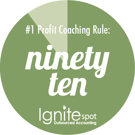 Our #1 Profit Coaching Tip Is Insanely Simple : The 90/10 Rule